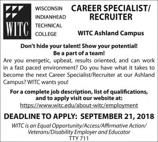 Career Specialist / Recruiter