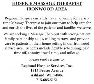Hospice Massage Therapist
