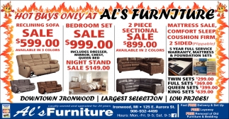 Hot Buy's Only At Al's Furniture