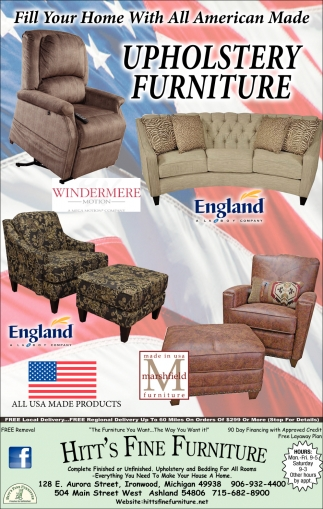 Fill Your Home With All American Made Upholstery Furniture