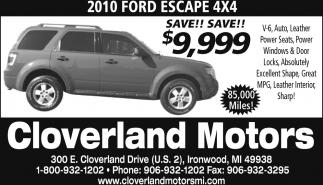 2010 Ford Escape 4x4