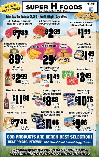 Prices Thru September 30, 2018