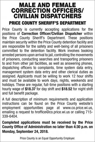 Correction Officers/Civilian Dispatchers