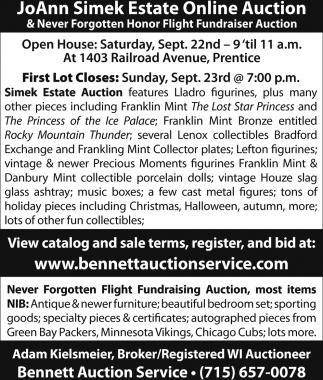 JoAnn Simek Estate Online Auction