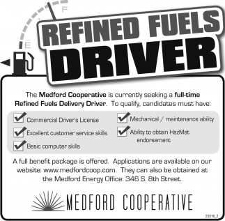 Refined Fuels Driver