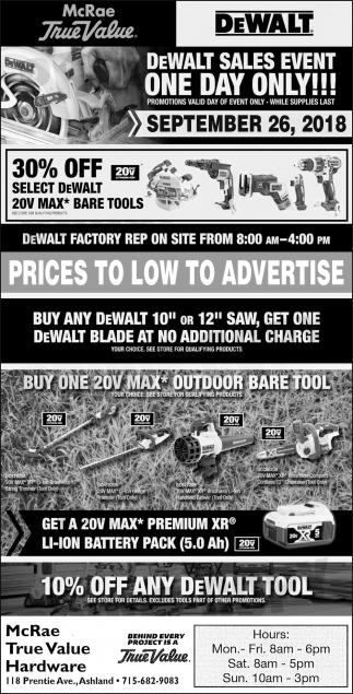 DeWalt Sales Event