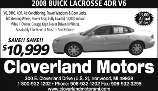 2008 Buick Lacrosse 4DR V6