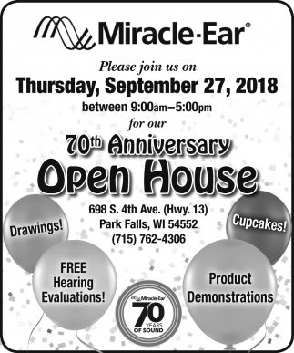 70th Anniversary Open House