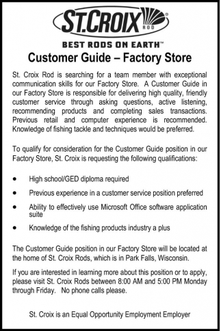 Customer Guide - Factory Store
