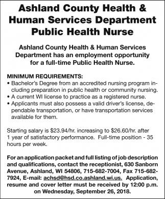Public Health Nurse