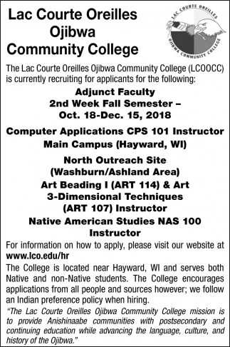 Computer Applications CPS 101 Instructor