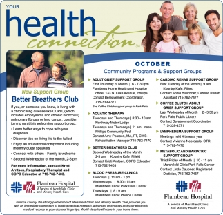 October Community Programs & Support Groups