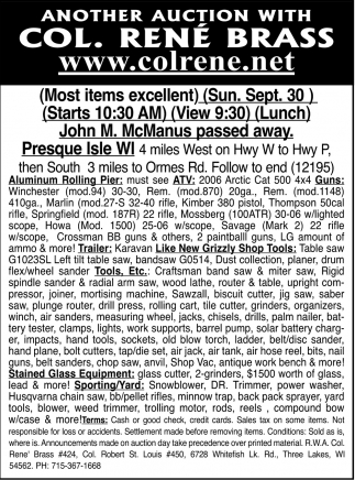John M. McManus Passed Away