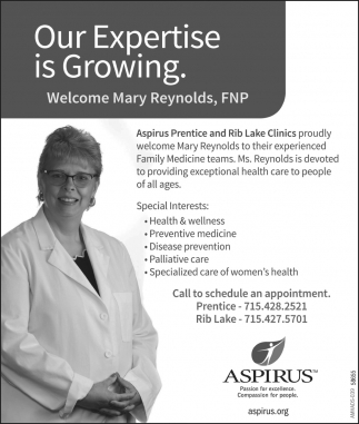 Welcome Mary Reynolds, FNP