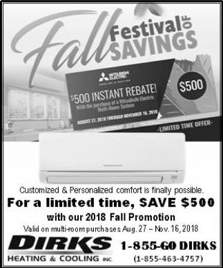 Festival of Fall Savings