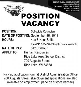 Position Vancancy
