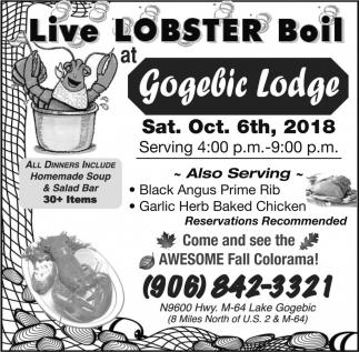Live Lobster Boil
