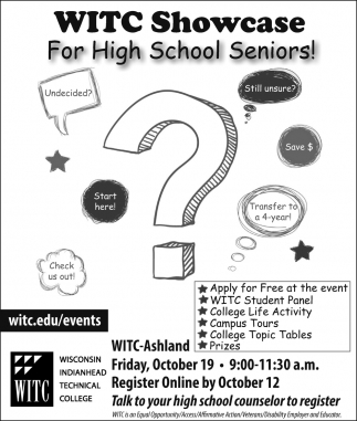 WITC Showcase For High School Seniors