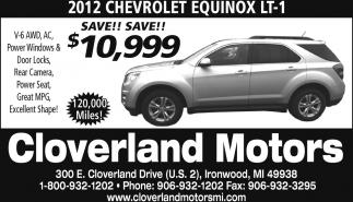 2012 Chevrolet Equinox LT-1