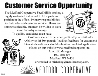 Customer Service Opportunity