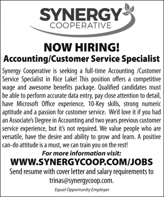 Accounting / Customer Service Specialist