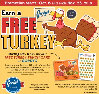 Earn A Free Turkey