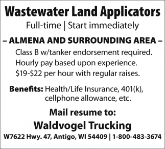 Wastewater Land Applicators