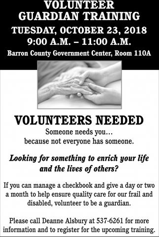 Volunteer Guardian Training