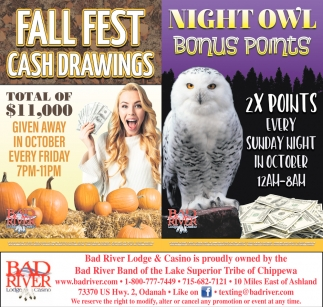 Fall Fest Cash Drawings