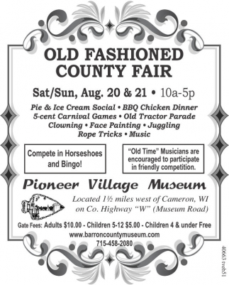 OLD FASHIONED COUNTY FAIR