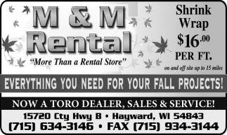 Now a Toro dealer, sales & services!