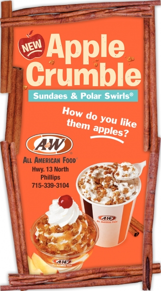 Apple Crumble Sundaes & Polar Swirls