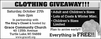 Free clothing giveaways in portage county