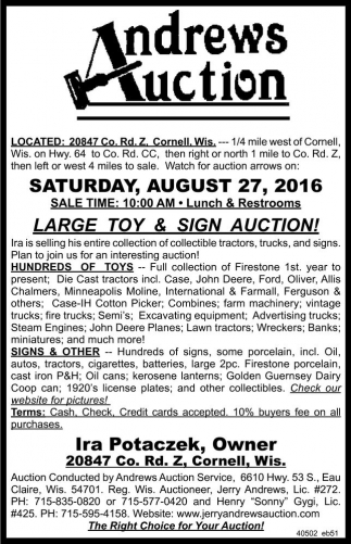 LARGE TOY AND SIGN AUCTION