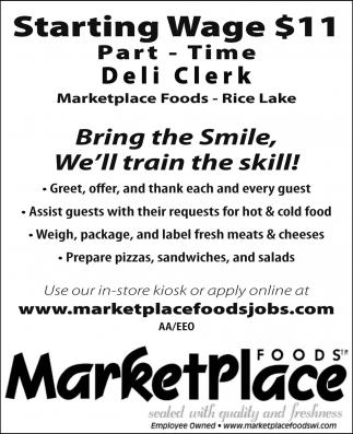 Part-Time Deli Clerk
