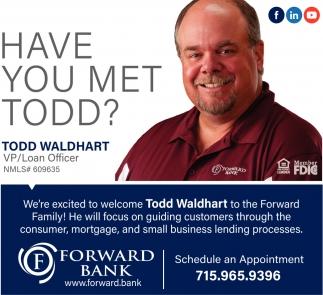 Todd Waldhart, VP/Loan Officer
