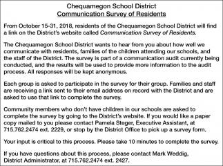 Communication Survey of Residents