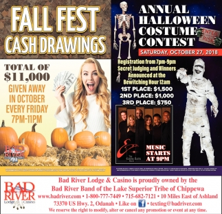 Fall Fest Cash Drawings/Annual Halloween Costume Contest