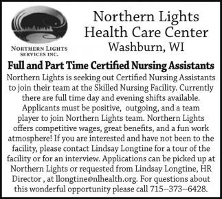 Certified Nursing Assistants