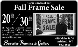 Fall Frame Sale