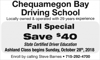 Fall Special - Save $40