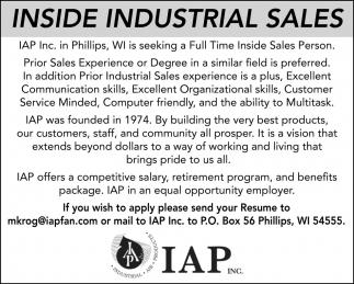 Inside Industrial Sales