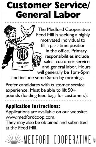 Customer Service/General Labor