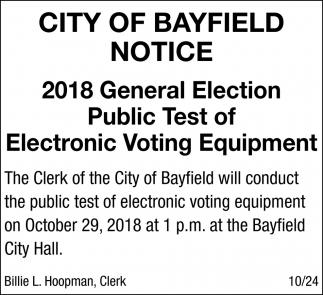 Notice 2018 General Election