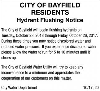 Hydrant Flushing Notice