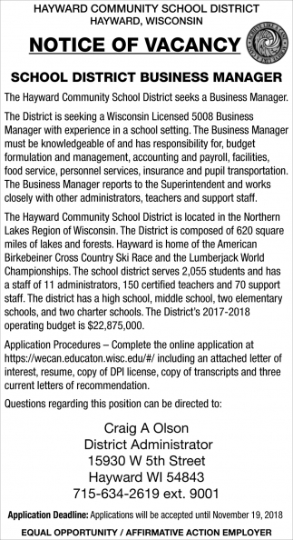 School District Business Manager