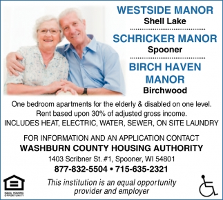 One bedroom apartments for the elderly & disabled on one level