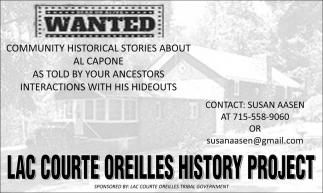 Lac Courte Oreilles History Project