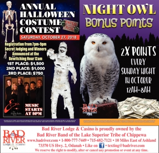 Annual Halloween Costume Contest/Night Owl Bonus Points