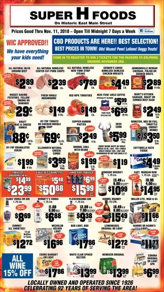 Prices Good Thru Nov.11, 2018